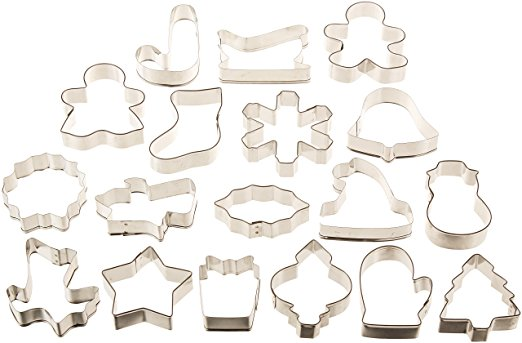 Finally, potlucks are a'coming people, time to start whipping up cookies with these  holiday cookie cutters !