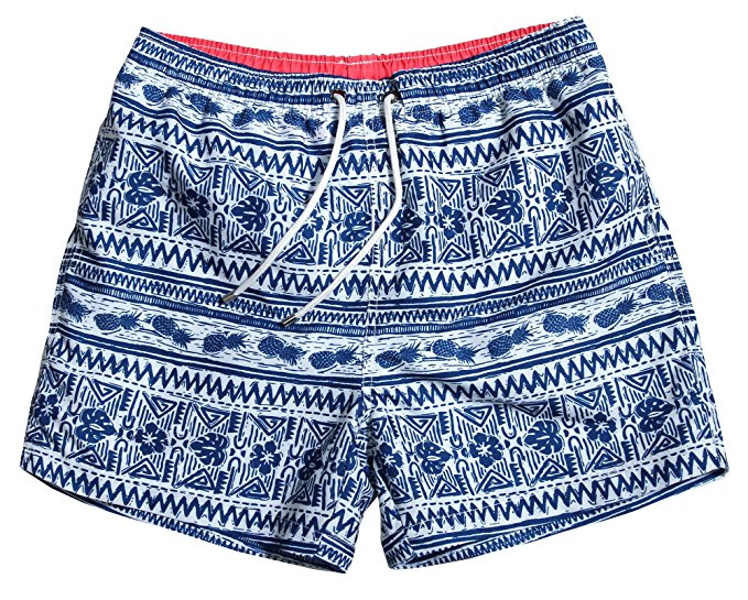 WUAMBO Men's Sports Running Swim Board Shorts with Pocket, Mesh Lining