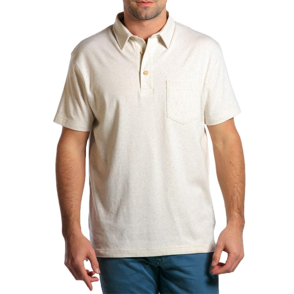 Puremeso Heathered Pocket Polo - Stone