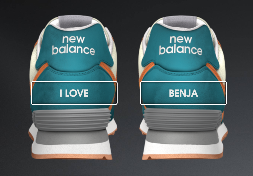Benja inspired New Balance kicks
