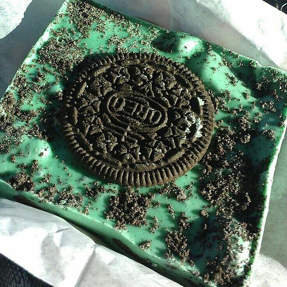 Oreo mint bark from Rocky Mountain Chocolate Factory