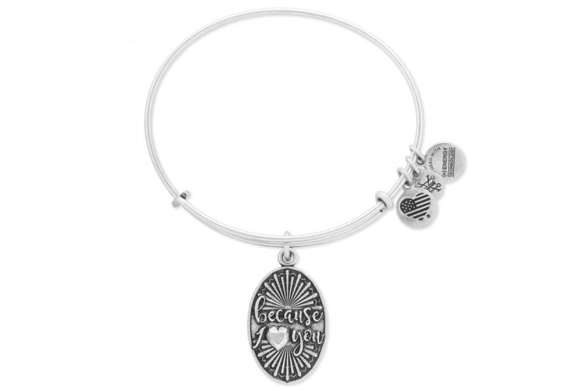 Alex And Ani Because I Love You - Silver