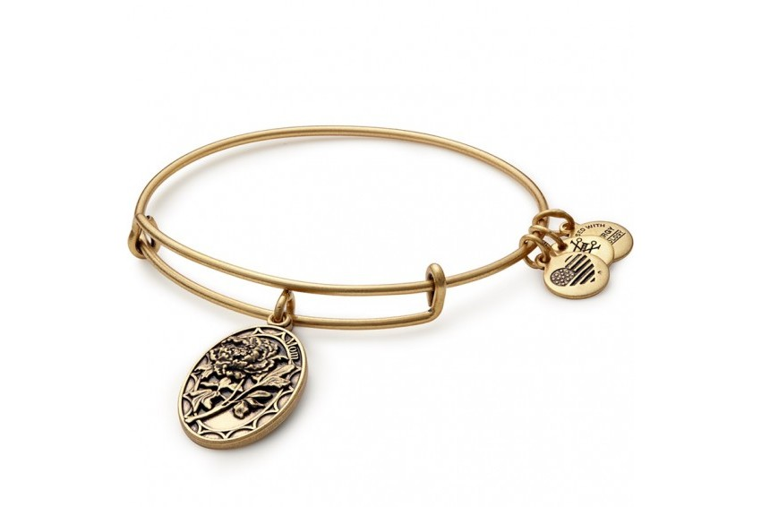Alex And Ani Mom Charm Bangle - Gold