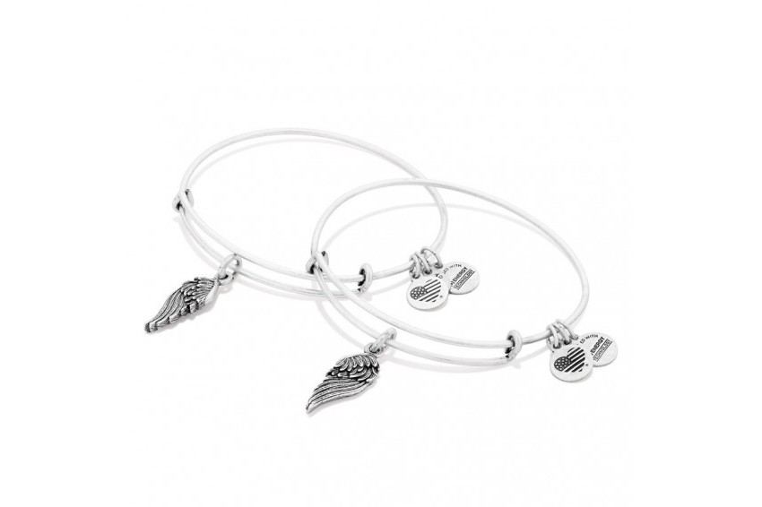Alex And Ani Path Of Symbols-Wings Set Of 2 - Silver