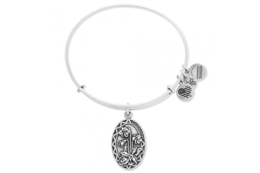 Alex And Ani Because I Love You-Godmother Bracelet - Silver