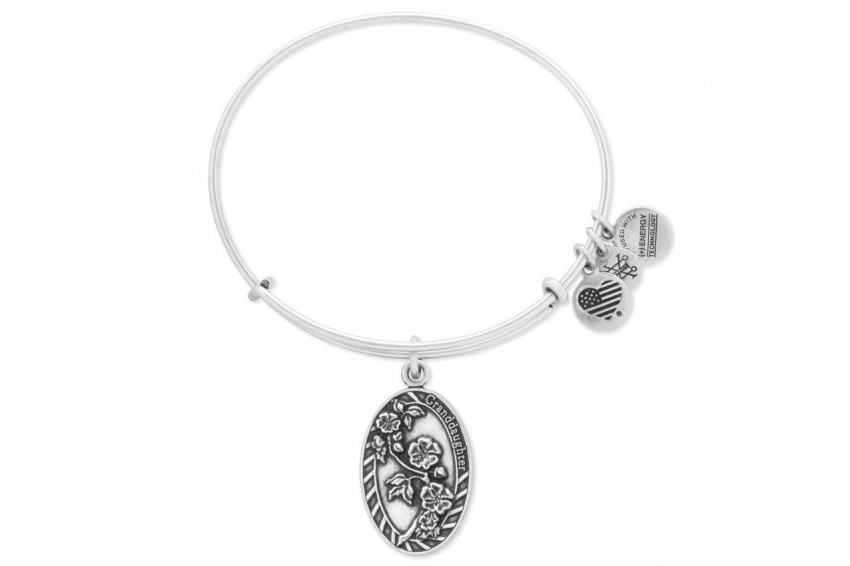 Alex And Ani Because I Love You-Granddaughter Bracelet - Silver