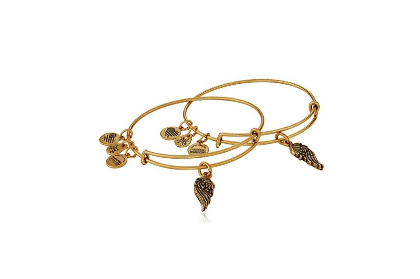 Alex And Ani Path Of Symbols-Wings Set Of 2 - Gold