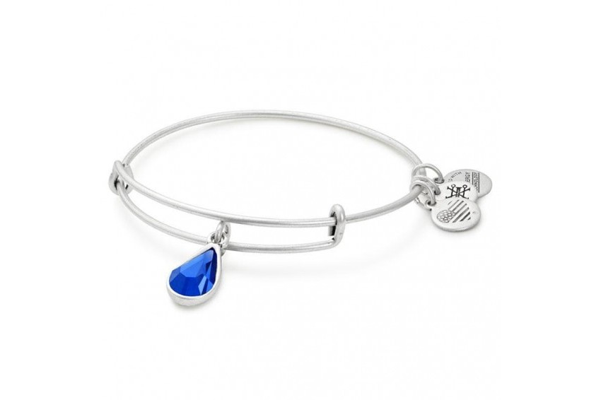 Alex And Ani Swarovski Teardrop September Birth Month Bangle - Sapphire/Silver
