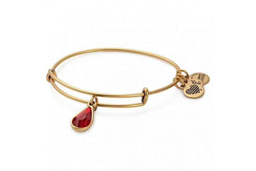 Alex And Ani Swarovski Teardrop January Birth Month Bangle - Gold