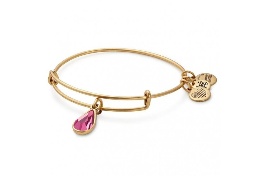 Alex And Ani Swarovski Teardrop October Birth Month Bangle - Rose/Gold