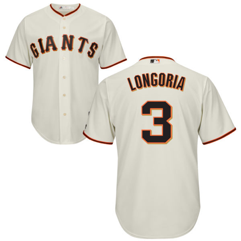 Men's San Francisco Giants Evan Longoria Home White Majestic Cool Base Jersey $99.99