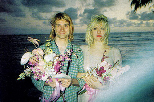 Kurt Cobain and Courtney Love wedding in Hawaii. Source image provided by the artist