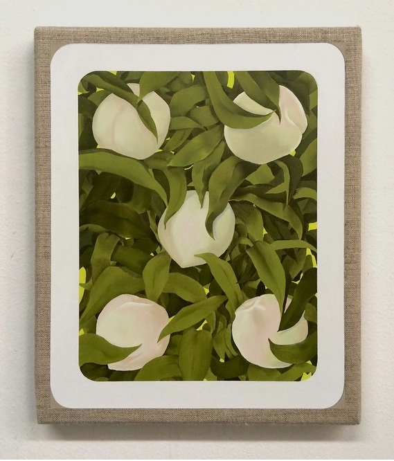 Mika Horibuchi,  5 of Hearts,  2015, Oil on linen. Courtesy of Patron Gallery