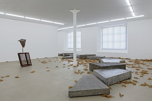 Martin Boyce, A River in the Trees, 2009. Installation view. Courtesy of the Museum Für Gegenwartkunst, Basel