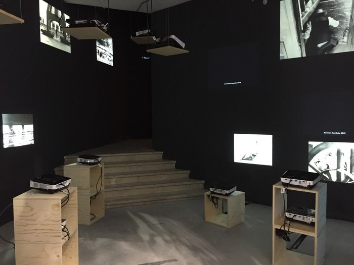 Samson Kambalu, Nyau Cinema (Hysteresis), Installation view in All the World's Futures, 56th Venice Biennale, 2015