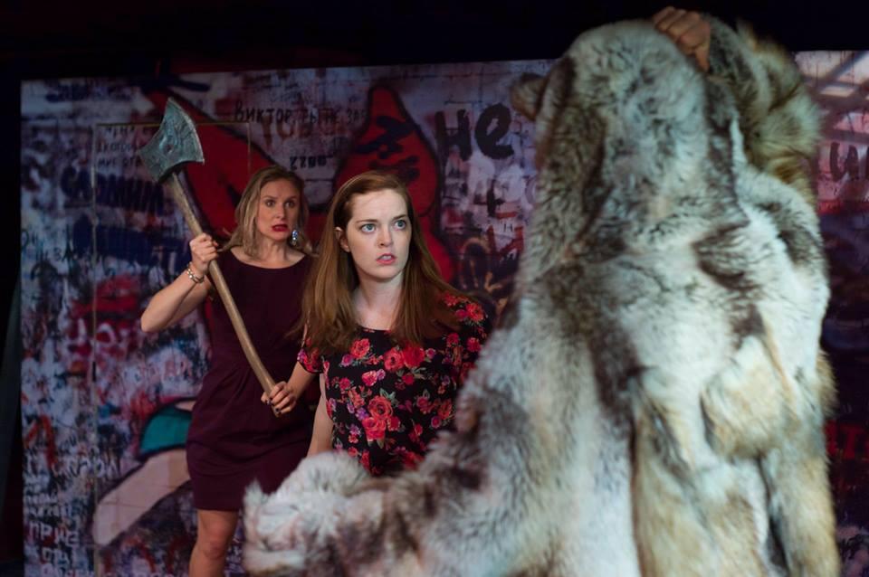 Katherine Bourne Taylor as Annie in the regional premier of The Fairy Tale Lives of Russian Girls, by  Meg Miroshnik .  Undermain Theatre . Photo Kat Owens.