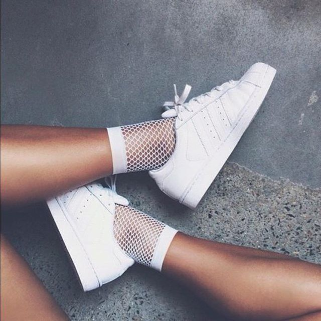 Fishnets + Adidas 💕👟 📷: Unknown @pinterest . #activewear #fitspo #fitness #supportlocal #fitnessmotivation #yogatights #yogapants #athleisurewear #fitfashion #fitnessfashion #yoga #pilates #togatights #prints #textiledesign #yogajourney #yogamotivation #realwomen #girlboss #tropical #fitspo #fitfashion