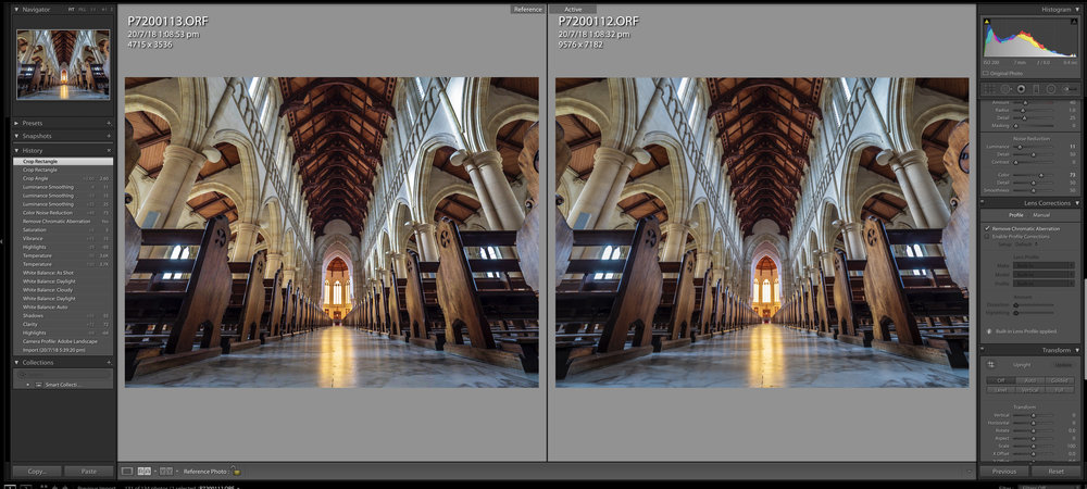 Full frame, 20mp on the left, High Res 80mp on the right