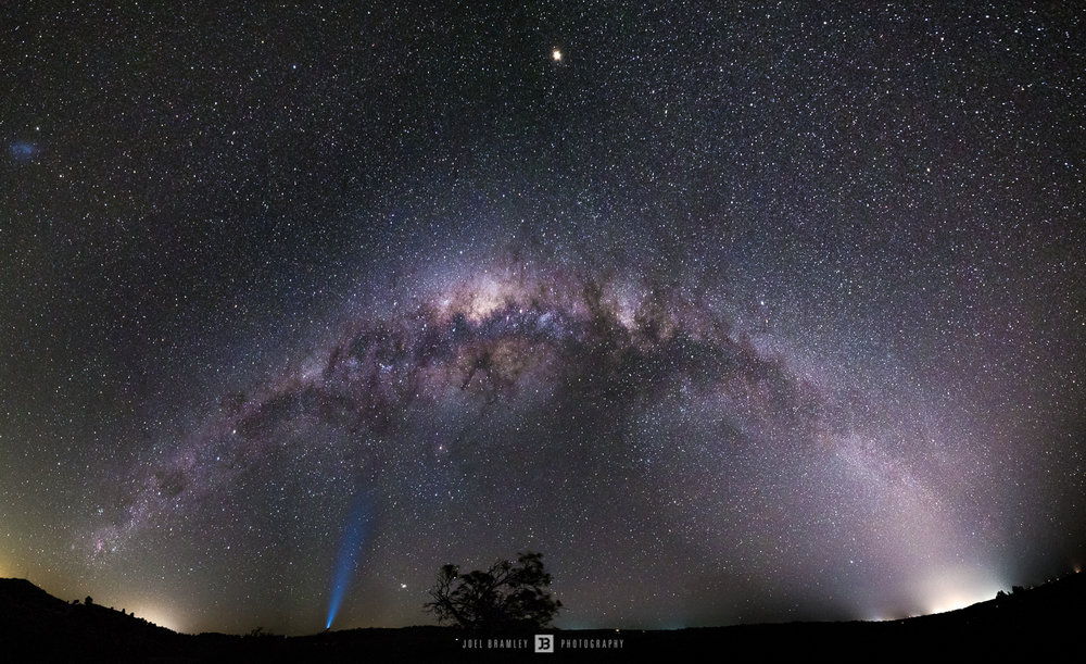 Final edit with the Milky Way spanning from Melbourne to Bendigo