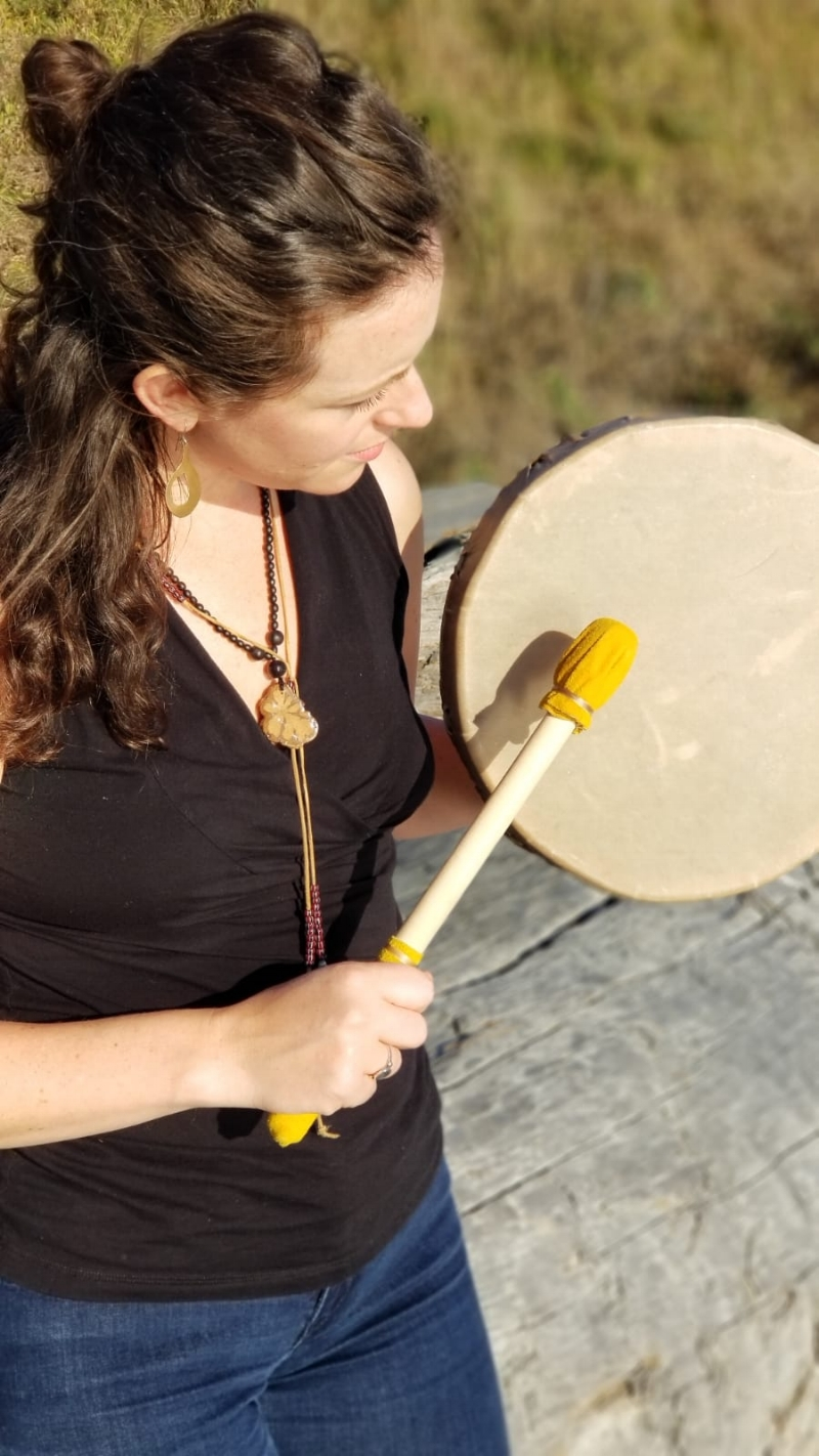 Drum Healing - Drums have been used in shamanic healing practices for centuries as a way to connect our body and spirit. The vibration of the drum affects us on a cellular level and brings our mind's awareness into the moment, taking us within and without at the same time. The sound of the drum takes us back to our ancestral beginnings and the root of who we are, feeling stirred yet safe, free to travel through worlds and times where transformation can take place. You choose if you want to reset, release, or invoke something into your life during these sessions. These treatments take place in your home.