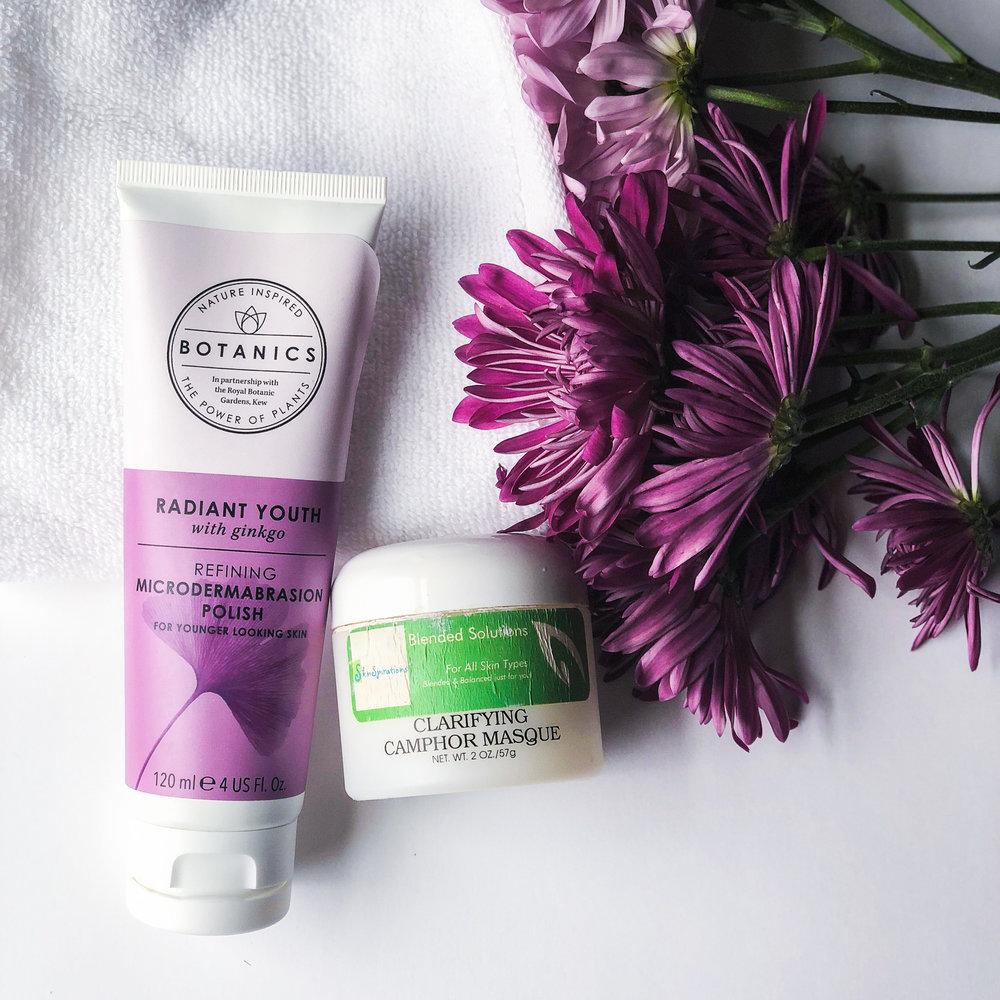 Botanics Facial Scrub and Clarifying Camphor Masque