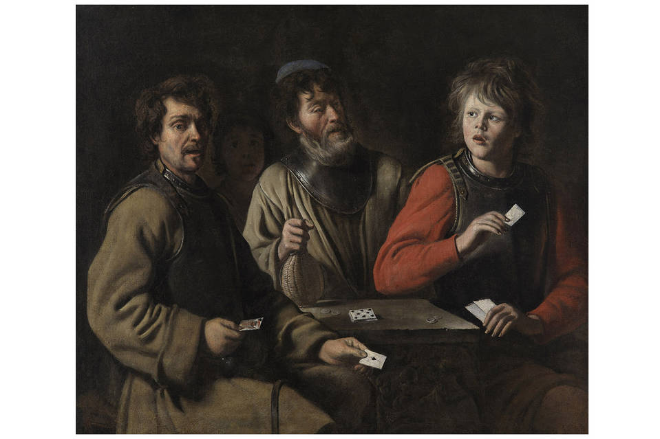 'The Card Players' (c. 1640–45) inspired Cézanne.  PHOTO: MUSÉE GRANET