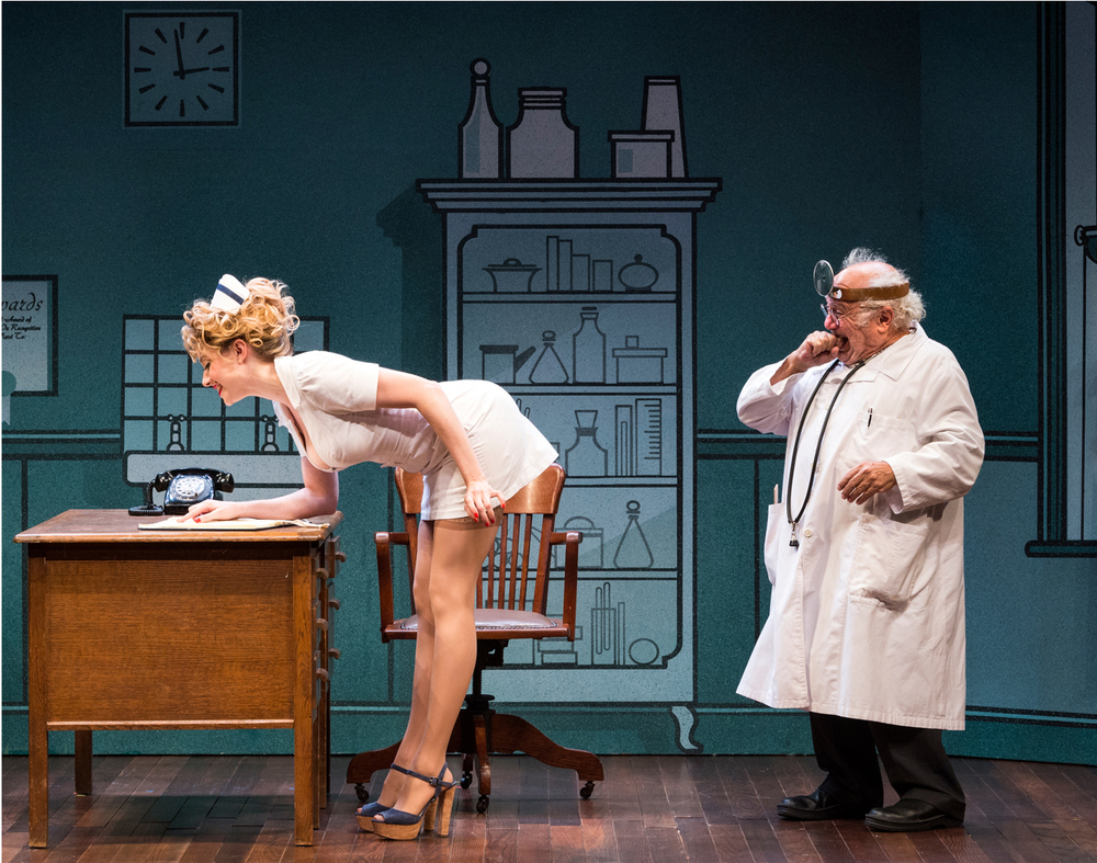 "Annie and Danny DeVito in ""The Sunshine Boys"" at the Ahmanson Theatre, Los Angeles."