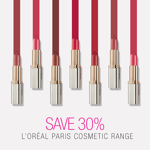 L'Oreal Cosmetics 30% OFF at Priceline