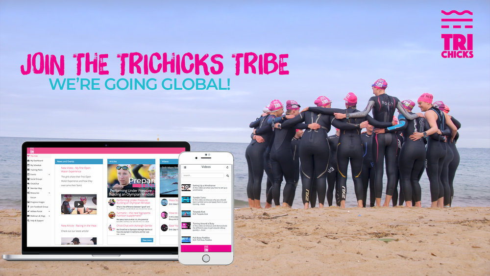 TriChicks Membership - Join from anywhere in the world and get access to triathlon programs, over 100 Training Videos, Recipes, Team Discounts, Monthly Webinars & more! For more info on how to join CLICK HERE