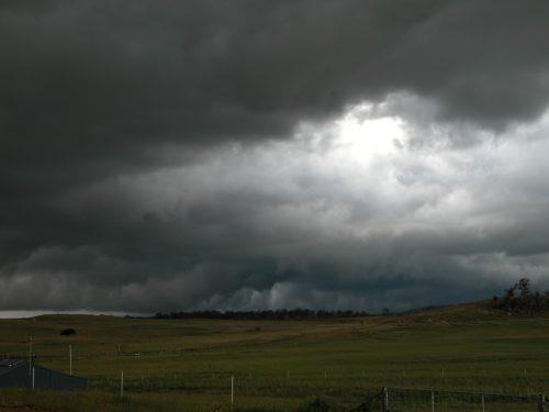 A summer storm in December 2010.