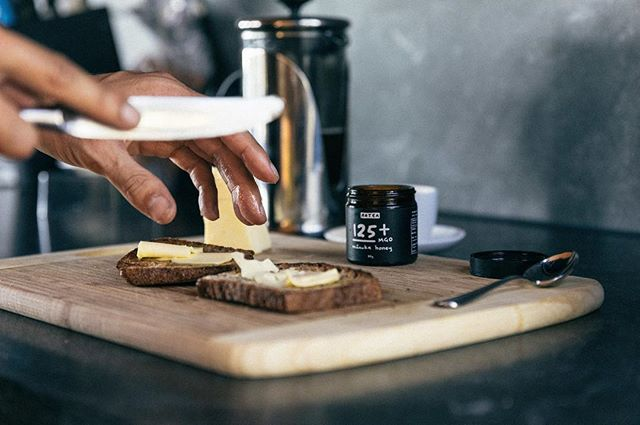 Mornin'. Honey on toast.