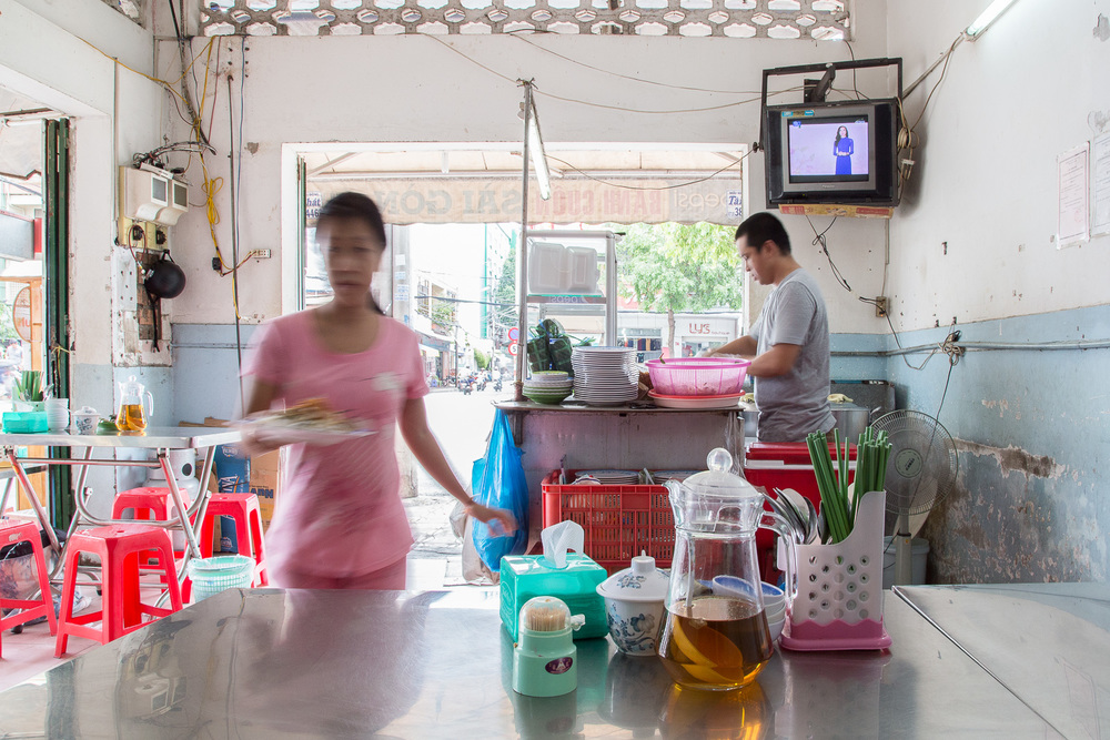 Banh Cuon Sai Gon has been serving up their  rice noodles in Can Tho for 17 years.