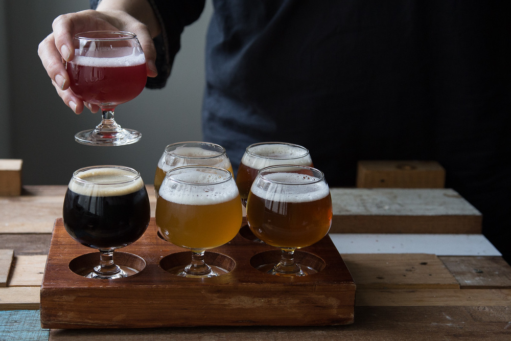 A tasting paddle of six Pasteur Street ales at their Pasteur Street headquarters costs 250,000 Vietnamese dong (AUD $15).
