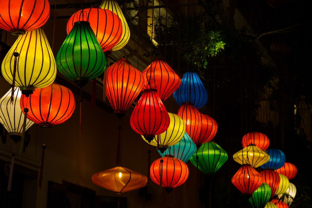 The lanterns of Hoi An really come to life when the sun goes down.