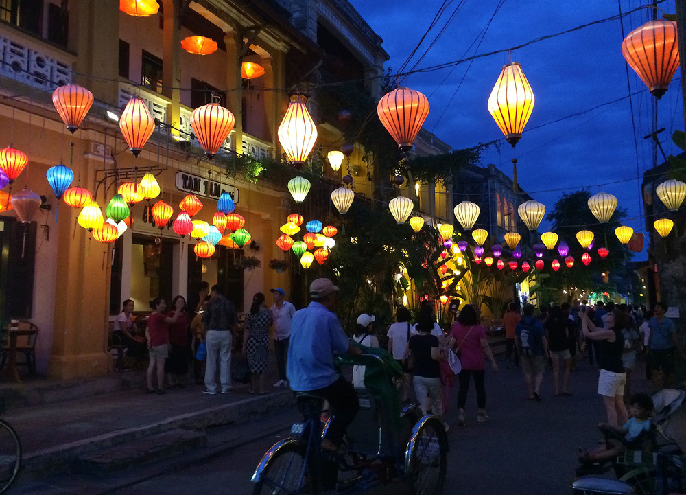 Lanterns really bring Hoi An's old town to life at night.