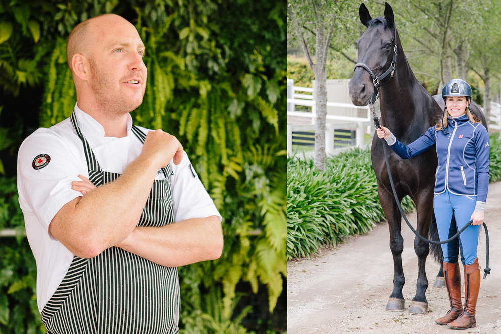 Chef Michael Cole (left) moved to the Mornington Peninsula in 2015 for better work-life balance. Alisha Griffiths (right) runs a thriving horse riding business in Main Ridge that includes horseback winery tours.