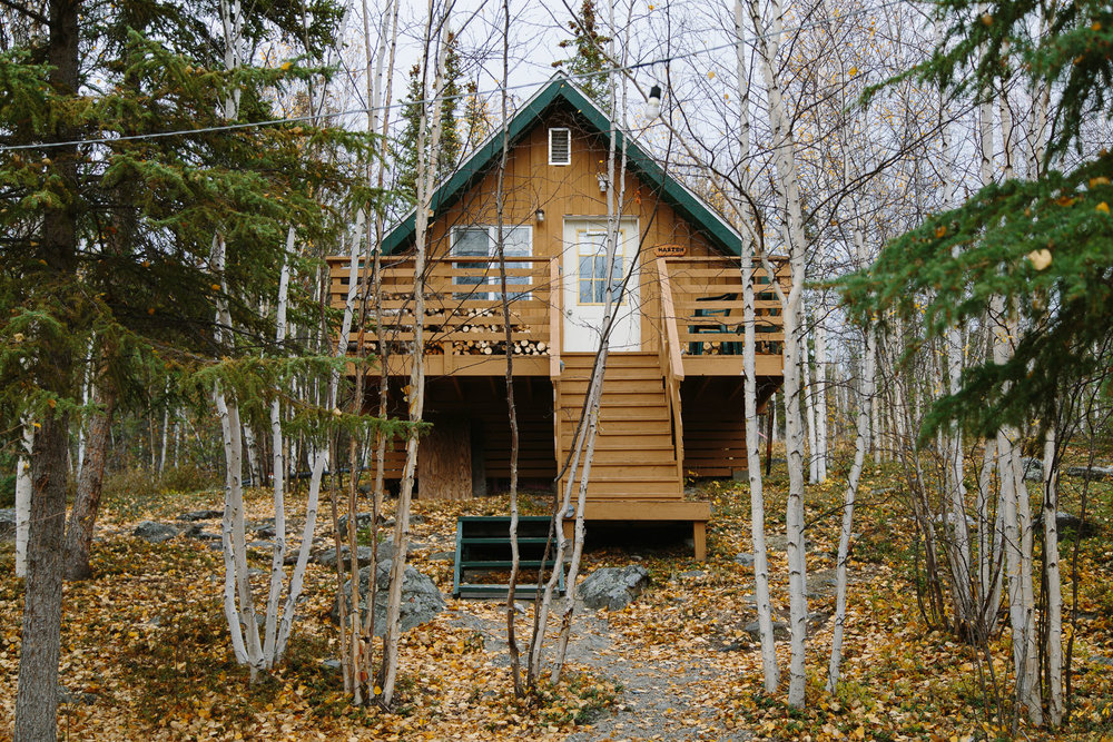 How awesome is our cabin? With over-night below-zero temperatures during our autumn stay, the wood fire stove was our best friend. The lodge has up to 32 beds but we only had to share with a handful of others.