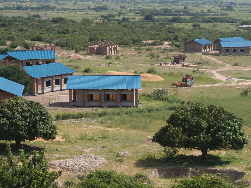 Ntulya Primary School under construction in 2008.