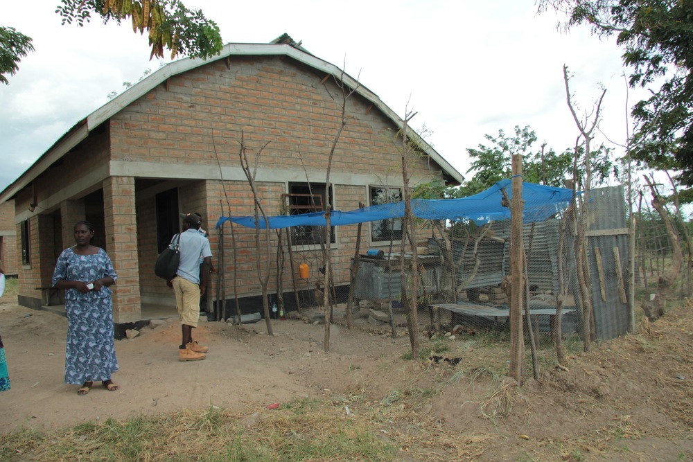 Teacher house with insulated double roof (and chicken coop).