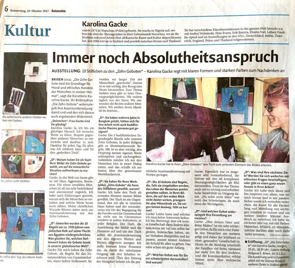 Press Review The Art Of Karolina Gacke