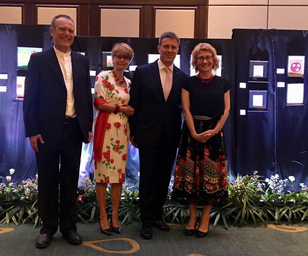Ambassador Waldemar Dubianowski and Ewa Dubianowska