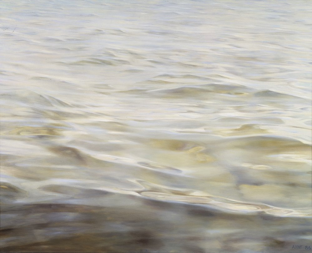 .  Lazy Sea 1986 ,  Oil on canvasl 100 x 115 cm    private collection