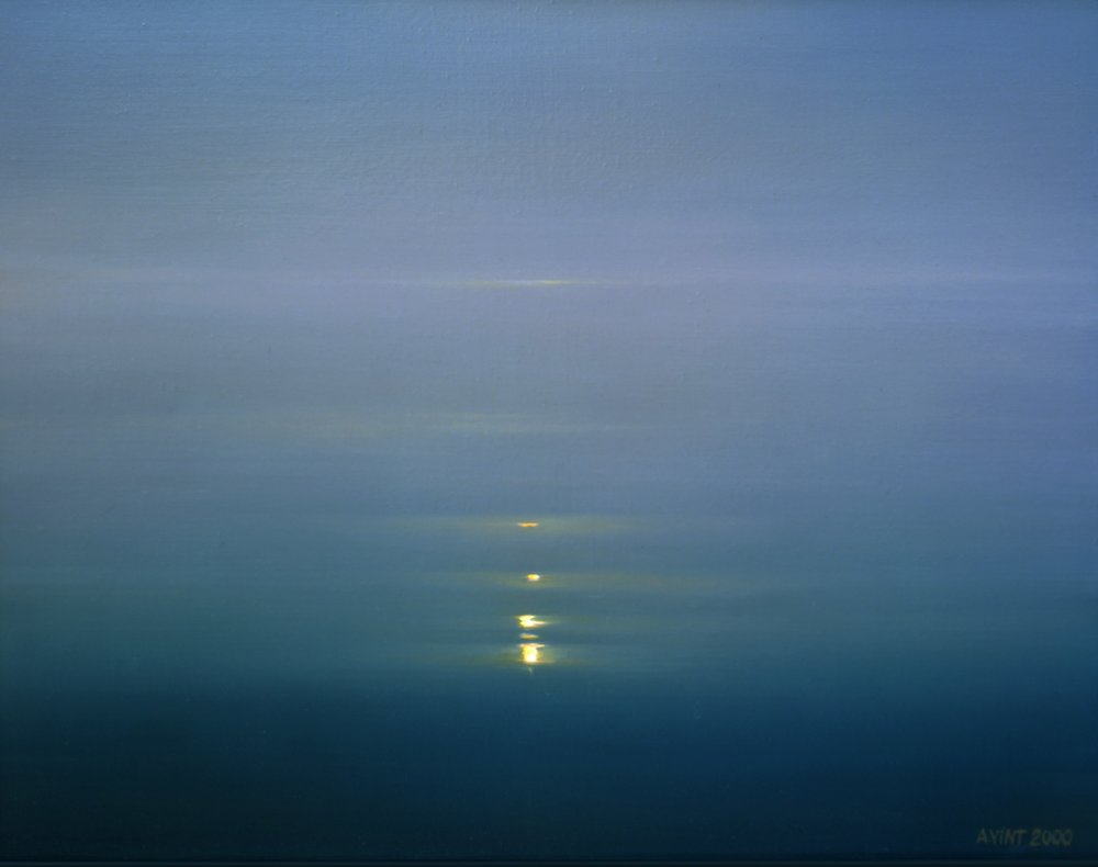 Glimmering Water 2000  Oil on canvas  92 x 115 cm,  artist's collection