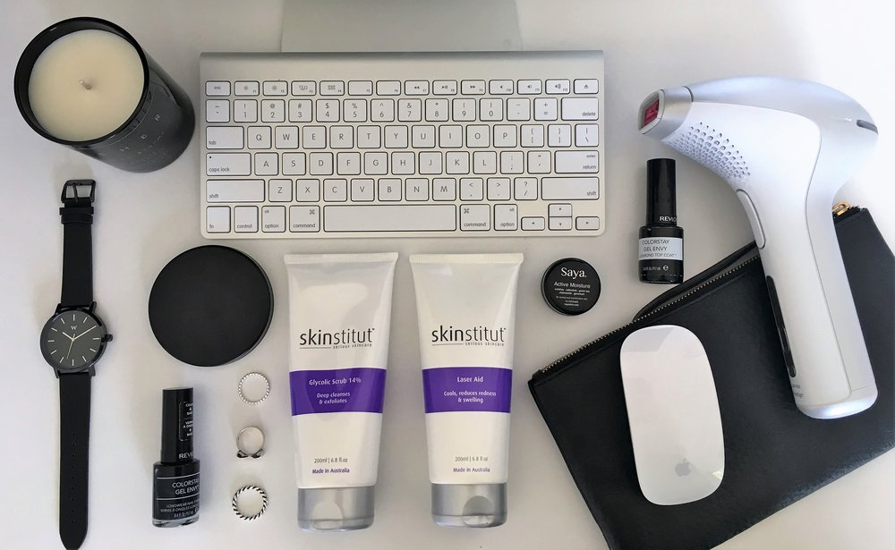 I always use the Skinstitut Glyolic Scrub and Laser aid products before and after the laser treatment to help with ingrown hairs and dry skin.