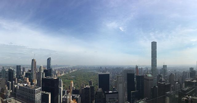 "Overheard at the Top Of the Rockefeller Centre:  American woman: ""I wonder where Central Park is?"" No idea babe, it's really hard to spot from up here! 🙄 #editsbyelle"