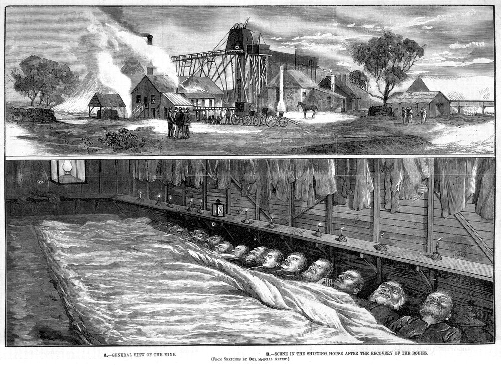 Creswick Mining Disaster Illustration, 1882. Sourced: Trove