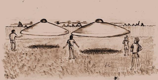 Copy of Illustration of Westall UFO incident – Artist impression