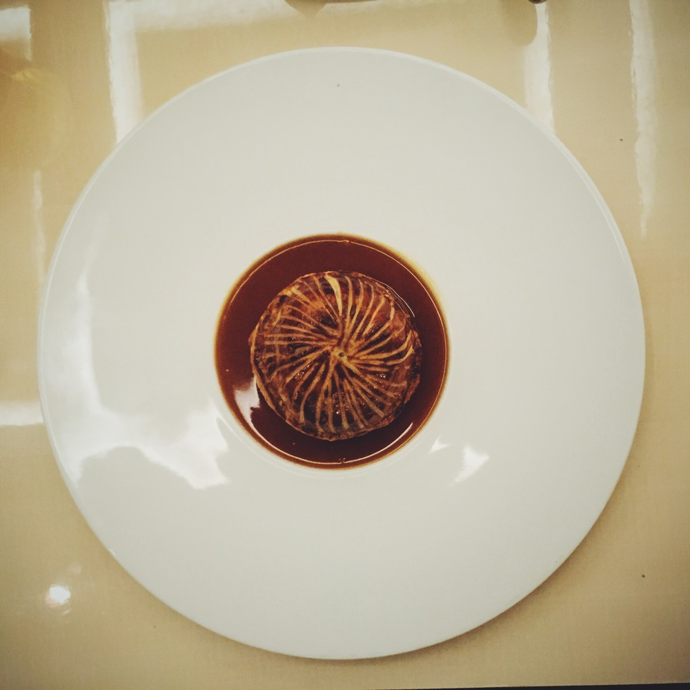 Pithivier of Littlebourne Snails, Smoked Bacon and Madeira Jus