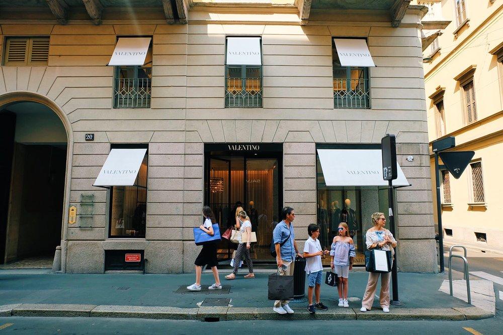Valentino store on Via Monte Napoleone
