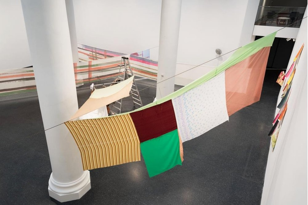 Installation View of  Lemme Walk Across The Room: Tessuti Raponi (Cia Milano) , 2018  Jonathan Dorado/ Courtesy of Brooklyn Museum